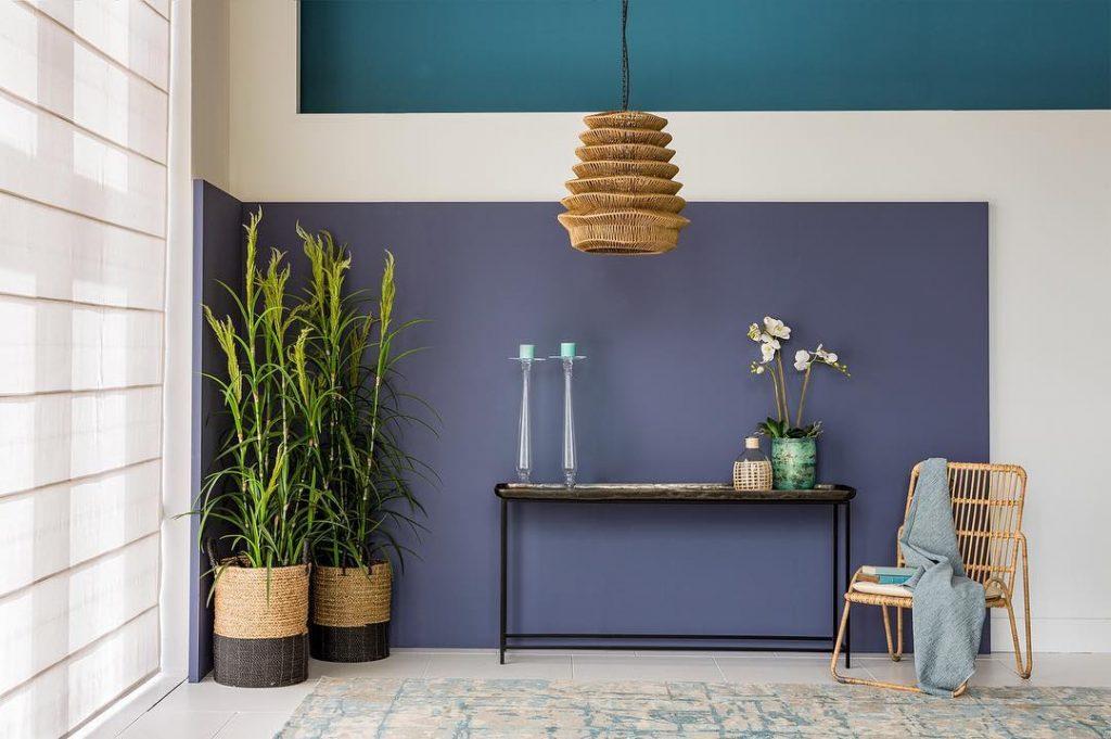 Peinture Flamand bleu sur un mur